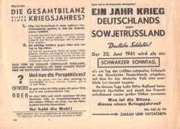 WWII WW2 Flugblatt Tract Leaflet Soviet Propaganda Against Germany  CODE 1630 - 1939-45