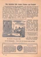 """WWII WW2 Flugblatt Tract Soviet Propaganda Against Germany """"Was Geht In Deutschland Vor?"""" Juli 1942 Nr. 182  CODE 1686 - 1939-45"""