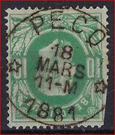 Nr. 30 Met ZELDZAME DEPOTS - RELAIS Stempel PECQ (COBA = 80 Euro) ; Staat Zie Scan  ! - 1869-1883 Leopold II.