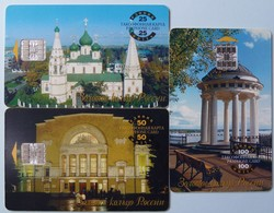 RUSSIA / USSR - Chip - Yaroslavl - Golden Link Of Russia - Group Of 3 - 25, 50 &100 Units - Used - Russia