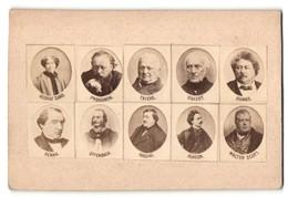Fotografie Schriftsteller-Porträts, Sand, Proudhon, Thiers, Guioz, Dumas, Renan, Offenbach, Rossini, Alheiza, Scott - Beroemde Personen