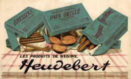 HEUDEBERT  BISCOTTES DE PAIN GRILLE   PUBLICIDAD  PUBLICITARIA. - Advertising