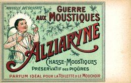 Guerre Aux Moustiques, Alziaryne, Préservatif Des Piqûres  PUBLICIDAD  PUBLICITARIA. - Publicidad