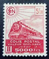 France 1941 Colis Postaux Train Valeur Déclarée Yvert 178 (*) MNG - Paketmarken
