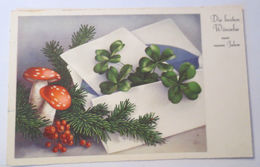 """Neujahr, Kleeblatt, Pilz"" 1938 ♥  - Neujahr"