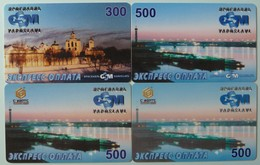 RUSSIA / USSR - Remote Memory / Prepaid - Yaroslavl - River View By Night - Exp 2001/2002 - Group Of 4 - Used - Russia