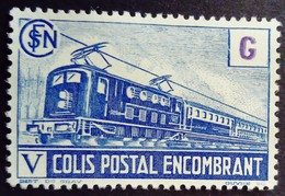 France 1945 Colis Postaux Train Encombrant G Yvert 224 (*) MNG - Neufs