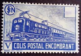 France 1941 Colis Postaux Train Encombrant Yvert 182 (*) MNG - Nuevos