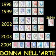 Italia Donna Nell'arte Tutte Le Emissioni USATI 1998 1999 2002 2003 2004 - 2001-10: Usati