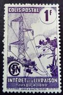 France 1944 Colis Postaux électricité Electricity Intérêt à La Livraison Yvert 220A (*) MNG - Parcel Post