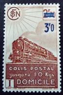 France 1943 Colis Postaux Train Domicile Surchargé Overprinted Yvert 204 (*)  MNG - Pacchi Postali