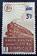 France 1943 Colis Postaux Train Domicile Surchargé Overprinted Yvert 204 (*)  MNG - Nuevos