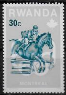 RWANDA    N° 714  * *   Jo 1976  Hippisme - Horses