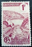 France 1943 Colis Postaux Barrage Dam Valeur Déclarée Avec Filigrane With Watermark Yvert 216A (*)  MNG - Parcel Post