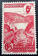France 1943 Colis Postaux Barrage Dam Valeur Déclarée Avec Filigrane With Watermark Yvert 217A (*)  MNG - Parcel Post