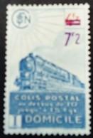 France 1945 Colis Postaux Train Domicile Surchargé Overprinted Avec Filigrane With Watermark Yvert 227A (*)  MNG - Ungebraucht