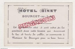Au Plus Rapide Carte De Visite Hôtel Ginet Le Bourget Du Lac Savoie Excellent état - Visiting Cards