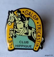 Pin's  LE GALOP TRICASTIN - Centre Equestre 26130 Saint-Paul-Trois-Châteaux - Badges