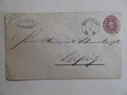 SACHSEN POSTAL STATIONARY  1 NEU GROSCHEN  POSTMARK SCHONBERG 168/BRAMBACH/ADORE 1866 - Unclassified
