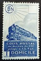 France 1941 Colis Postaux Train Domicile Yvert 175 (*) MNG - Ungebraucht