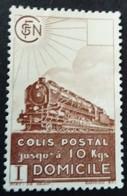 France 1941 Colis Postaux Train Domicile Yvert 174 (*) MNG - Nuevos