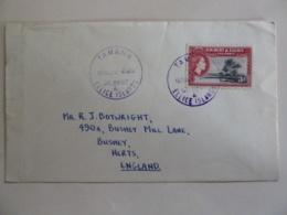 GILBERT & ELLICE ISLANDS POSTAL STATIONNARY  POSTAMRK TAMANA 1965 - Gilbert & Ellice Islands (...-1979)