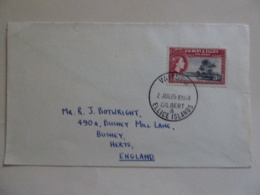 GILBERT & ELLICE ISLANDS POSTAL STATIONNARY   POSTAMRK VAITUPU 1965 - Gilbert & Ellice Islands (...-1979)