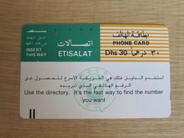 UAE #19 Tamura Phonecard,slogan,used - United Arab Emirates