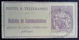 France 1900 Timbre Télégraphe Yvert 22 O Used - Telegraphie Und Telefon