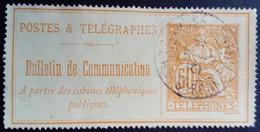 France 1900 Timbre Télégraphe Yvert 27 O Used - Telegraphie Und Telefon