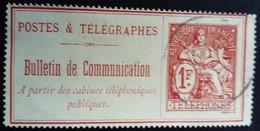 France 1900 Timbre Télégraphe Yvert 29 O Used - Télégraphes Et Téléphones