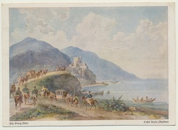 AK  Castel Brolo Sicilia Künstlerkarte Dillis 1948 - Italia