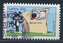 France - Sourires Avec Le Chien Cubitus YT A86 (3953) Obl. Cachet Rond - Adhésifs (autocollants)