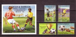 Soccer World Cup 1986 - ANTIGUA & BARBUDA - S/S+Set MNH** - World Cup