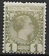 MONACO    -    1885 .   Y&T N° 1 *.     Cote 35,00 Euros - Monaco