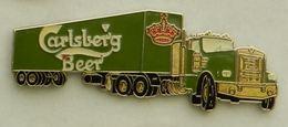 N361 Pin's Bière Bier Beer Camion Truck CARLSBERG 63 Mm  Qualité Top - Beer