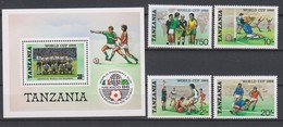 Soccer World Cup 1986 - TANZANIA - S/S+Set MNH** - World Cup