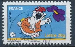 France - Sourires Avec Le Chien Cubitus YT A91 (3958) Obl. Cachet Rond - Adhésifs (autocollants)