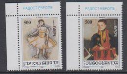 Yugoslavia 1992 Joy Of Europe 2v (corners) ** Mnh (43392E) - Europese Gedachte