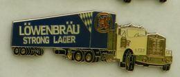 N363 Pin's Bière Bier Beer Camion Truck LOWENBRAU  STRONG LAGER 63 Mm  Qualité Top - Bière