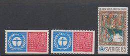 Sweden 1972 UN Environment Conference 3v ** Mnh (43394) - Zweden
