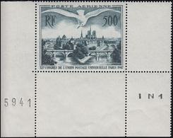 782 Flugpostmarke 500 Fr. Möve über Paris Mit Rändern Aus Kleinbogen Mit BZN **  - Frankreich