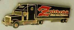 N373 Pin's Bière Bier Beer Camion Truck ZELTBRAU  FEINSTEN 60 Mm  Qualité Top - Bière