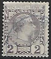 MONACO    -    1885 .   Y&T N° 2 Oblitéré - Monaco
