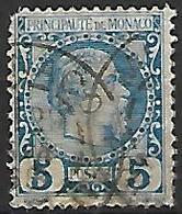 MONACO    -    1885 .   Y&T N° 3 Oblitéré.  Cote 50 Euros - Monaco