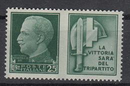 ITALIË - Michel - 1942 - Nr 304 P4 - MH* - Propaganda Di Guerra