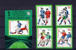 Soccer World Cup 1986 - BULGARIA - S/S+Set MNH** - World Cup