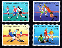 Soccer World Cup 1986 - CONGO - Set MNH** - World Cup