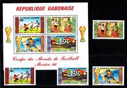 Soccer World Cup 1986 - GABON - S/S+Set MNH** - World Cup