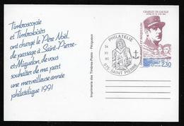 SAINT PIERRE ET MIQUELON  ( SPMB - 56 )  1990  N° YVERT ET TELLIER  N° 30CPa - Postal Stationery